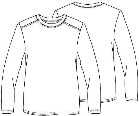 d103c1b97887 Pánské zdravotnické tričko s dlouhým rukávem - bílé