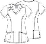 Zdravotnické oblečení - Blúzy - 4710-REDW - 5
