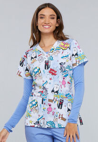 Zdravotnické oblečení - Dámske blúzy - CK616-TYPW