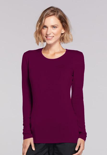 95809740b01 Dámske tričko dlouhý rukáv - vínová · Zdravotnické oblečení - Dámske blúzy  - 4881-WINW Zobrazit v plné velikosti