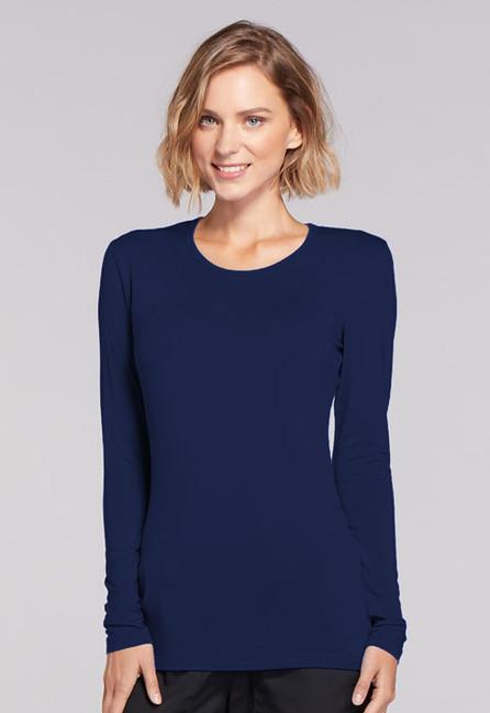 be176f6a8fa Dámské tričko dlouhý rukáv - námořnická modrá. Zdravotnické oblečení -  Dámske blúzy - 4881-NAVW Zobrazit v plné velikosti