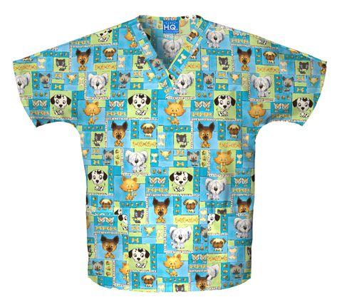 Zdravotnické oblečení - Blúzy s potlačou - 4700-PBOY