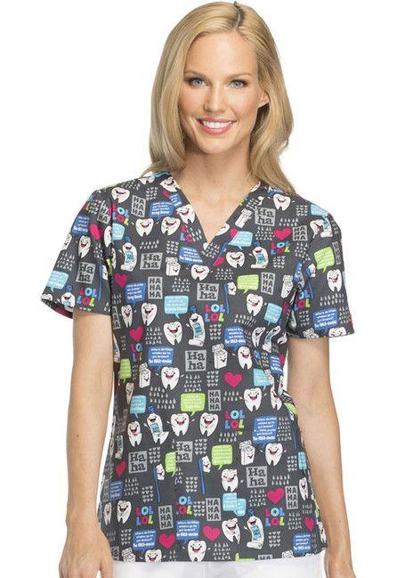 Zdravotnické oblečení - Dámske blúzy - DK704-HALU