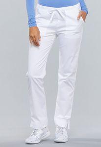 Dámské kalhoty úzkého střihu - bílé