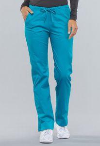 Dámské kalhoty úzkého střihu - modrozelené