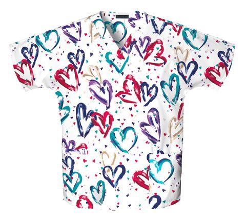 Zdravotnické oblečení - Blúzy s potlačou - 759-HRTB