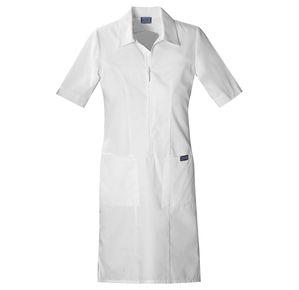 Dámské šaty na zip - bílá 8e54a919cb